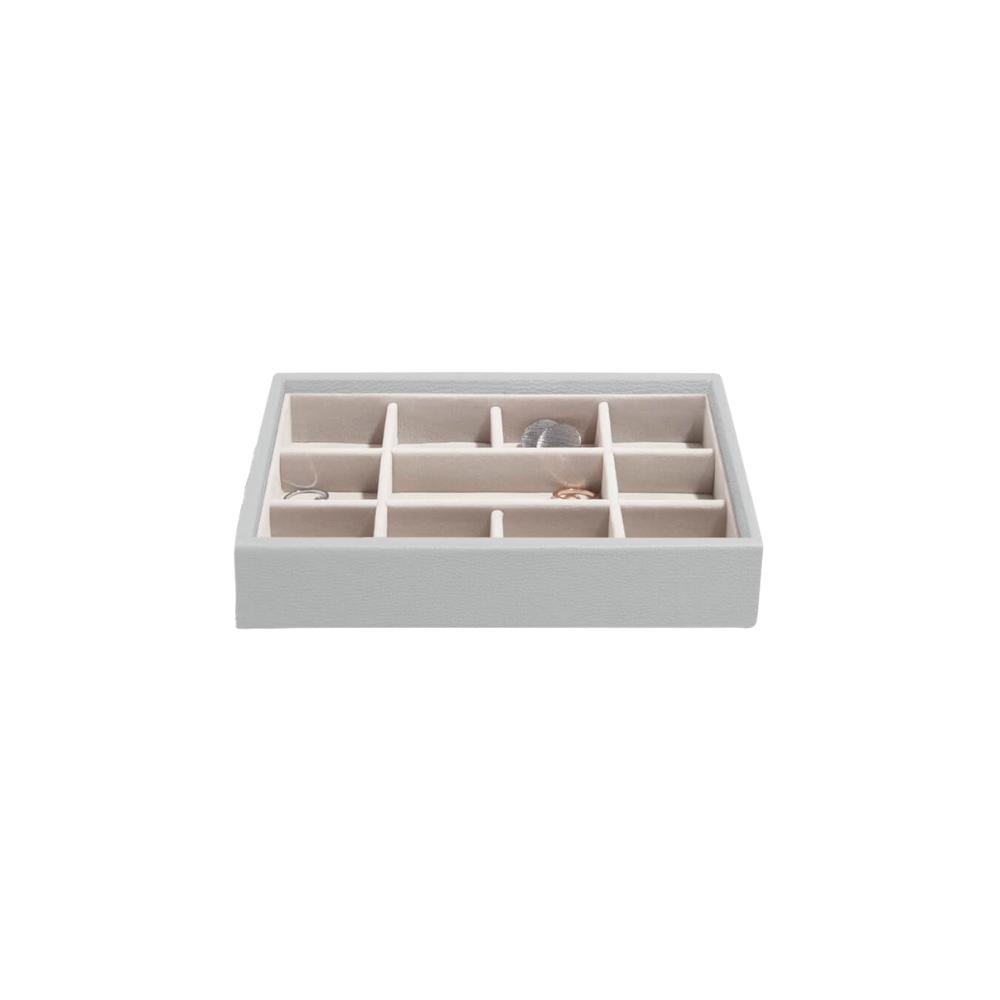 Mini 11-Section Box Pebble Grey & Grey Velvet-1