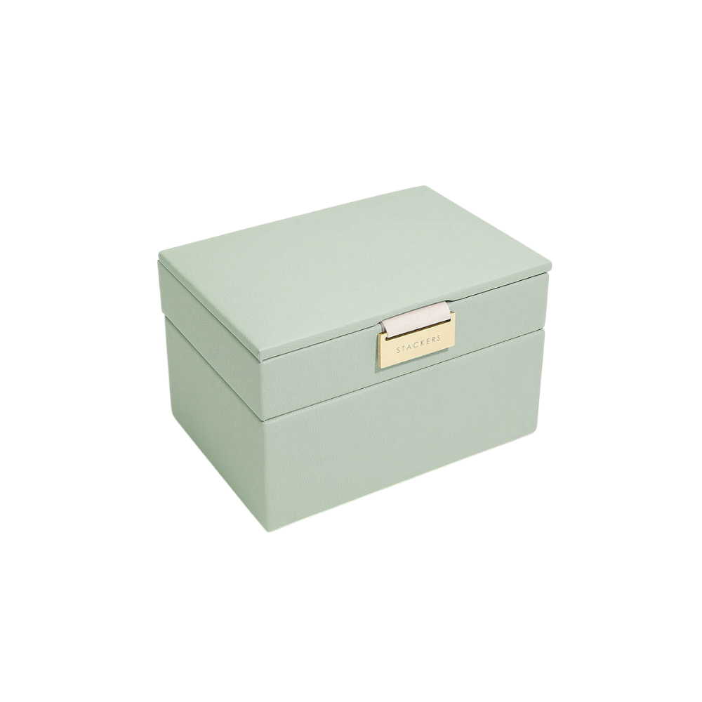 Mini 2-Set Sage Green & Grey Velvet-1