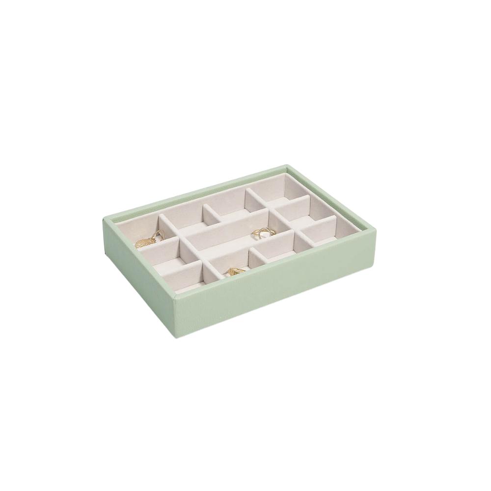 Mini 11-Section Box Sage Green & Grey Velvet-1