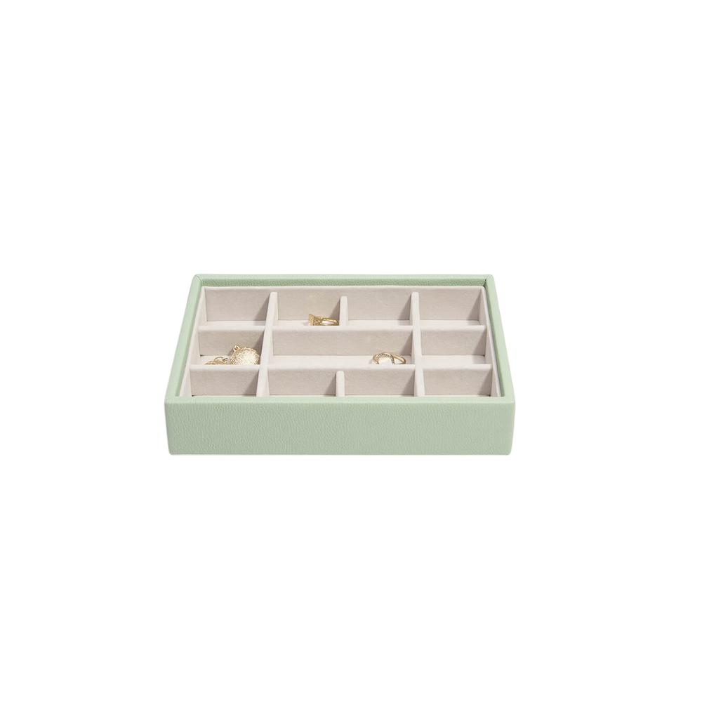 Mini 11-Section Box Sage Green & Grey Velvet-2