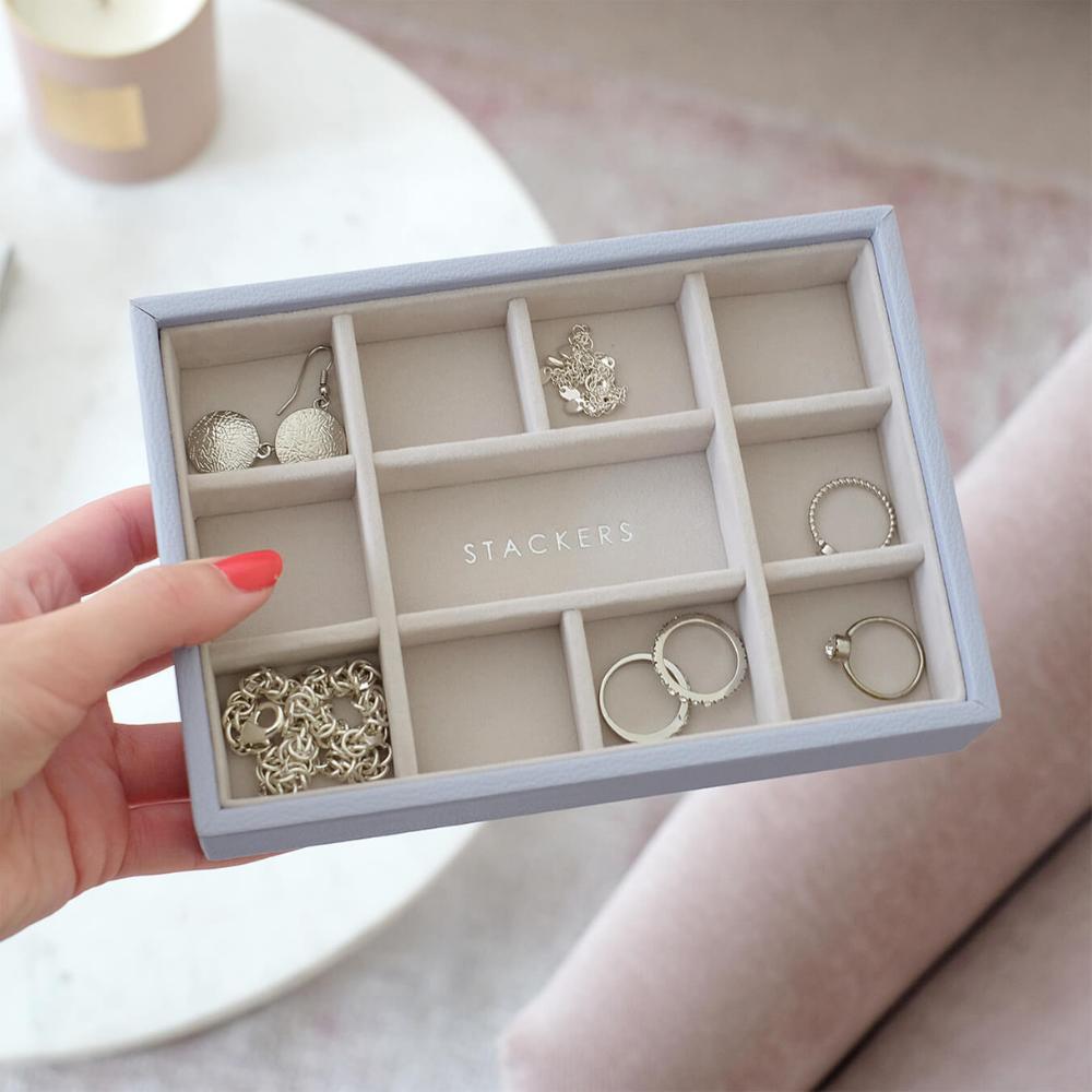 Mini 11-Section Box Lavender & Grey Velvet-3