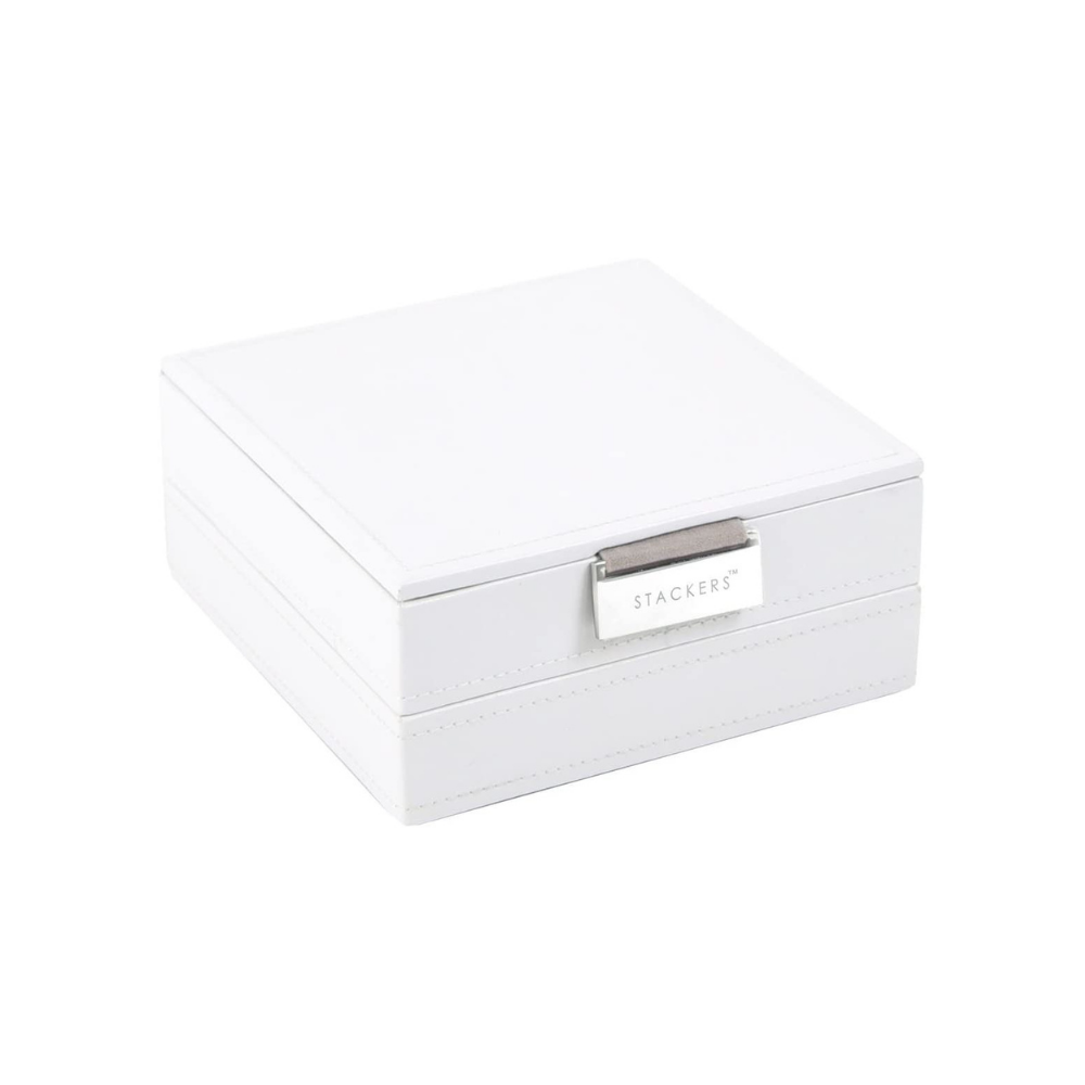 """Jewelry Box """"Charm"""" 2-Set in White & Stone Grey-1"""