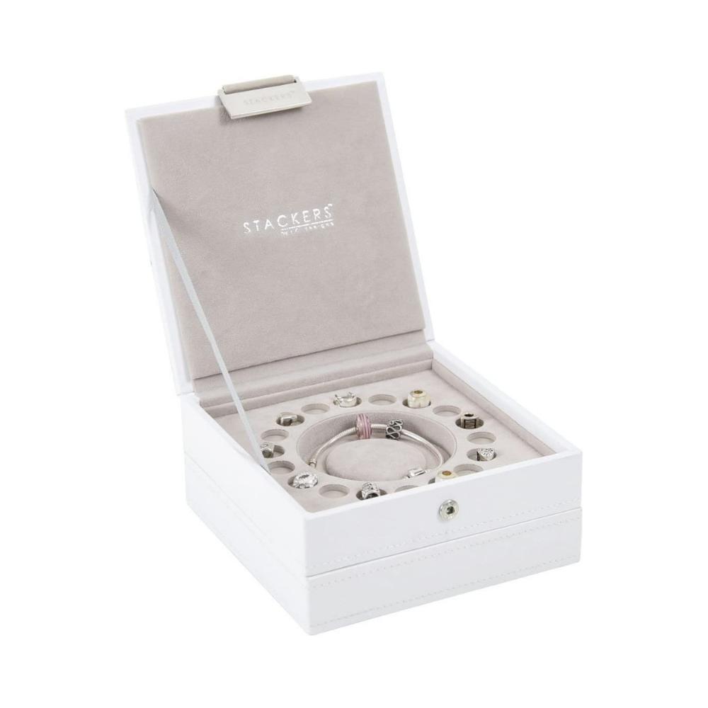 """Jewelry Box """"Charm"""" 2-Set in White & Stone Grey-2"""