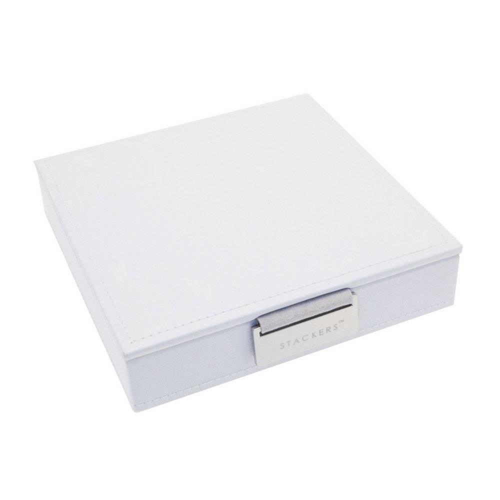 """Boîte à Bijoux """"Charm"""" 2-Set en White & Stone Grey-3"""