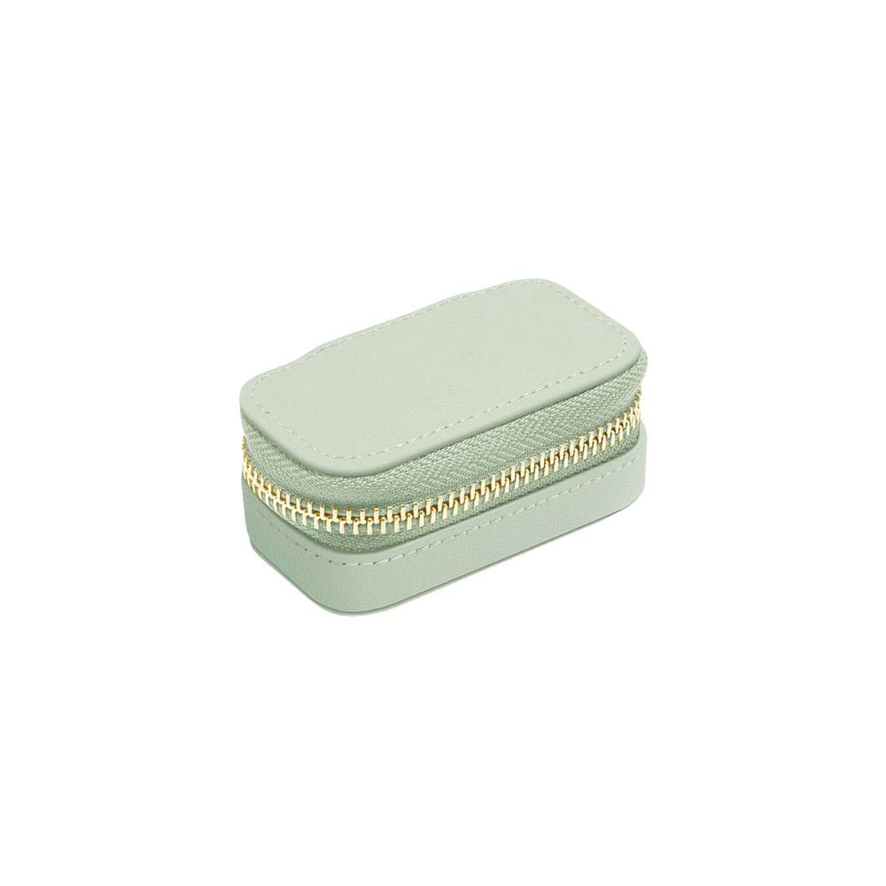 Small Travel Box Sage Green & Grey Velvet-2