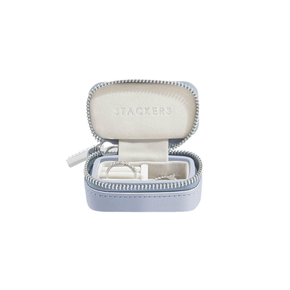 Small Travel Box Lavender & Grey Velvet-1
