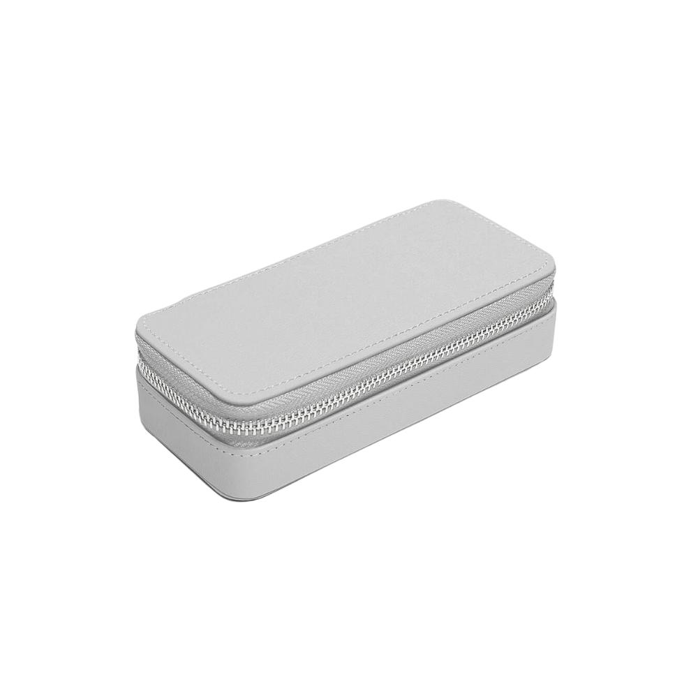 Medium Travel Box Pebble Grey & Grey Velvet-2