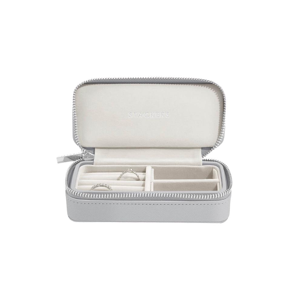 Medium Travel Box Pebble Grey & Grey Velvet-1