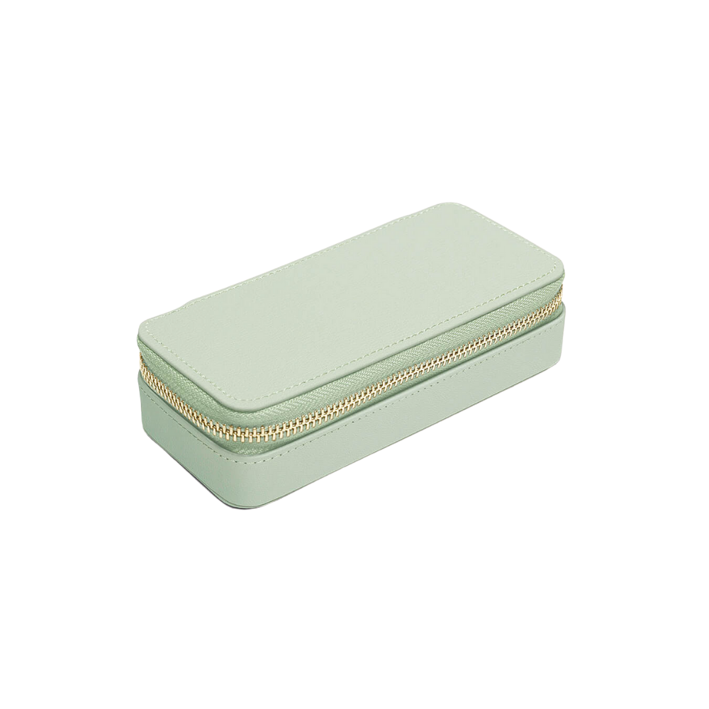 Medium Travel Box Sage Green & Grey Velvet-2