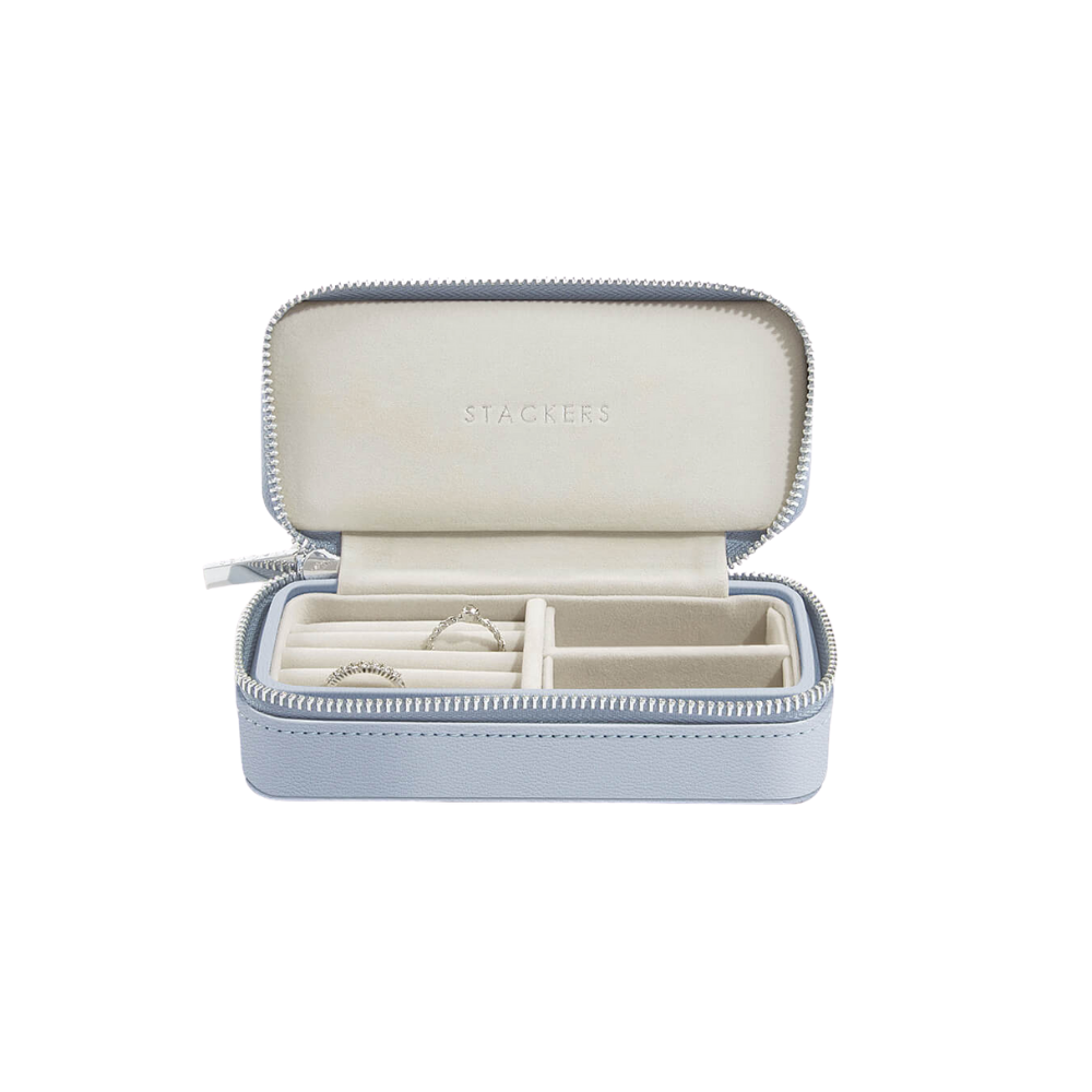 Medium Travel Box Lavender & Grey Velvet-1