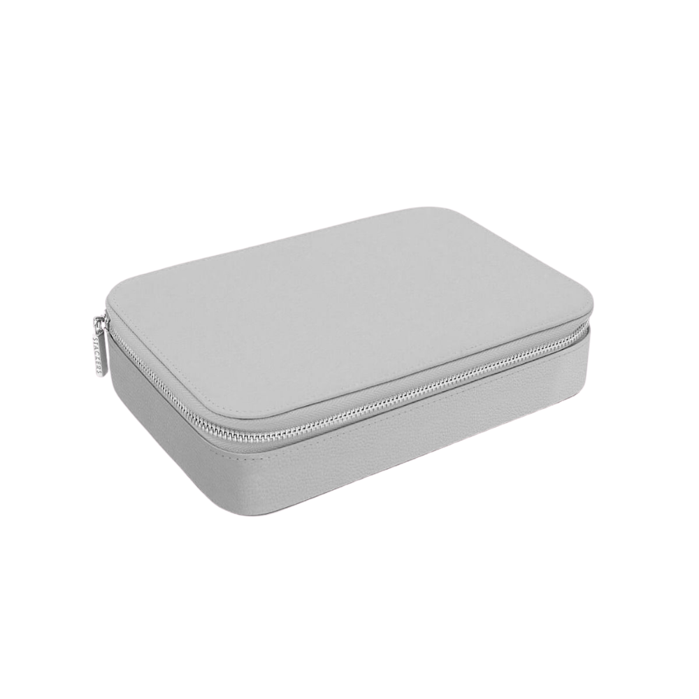 XL Travel Box Pebble Grey & Grey Velvet-2