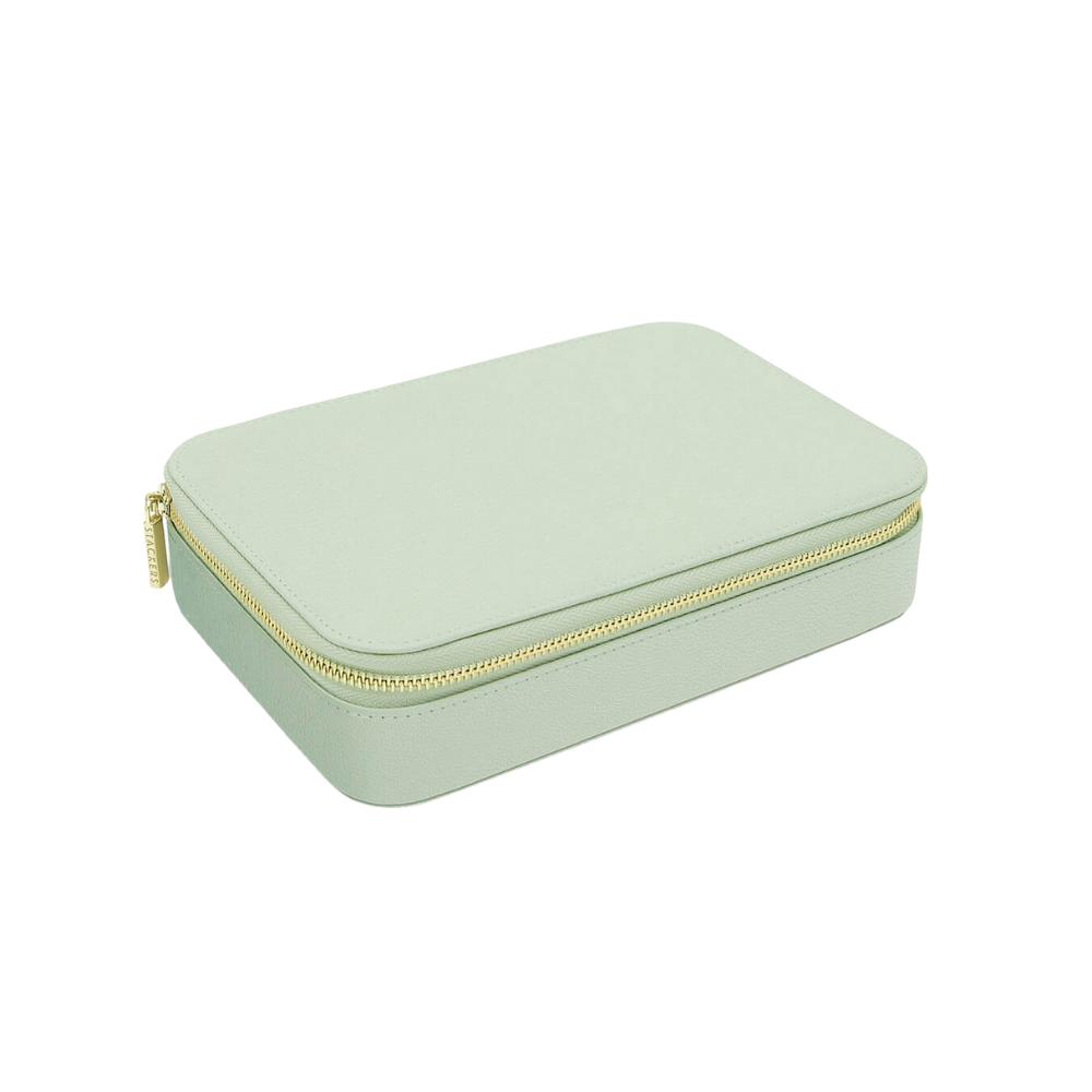 XL Travel Box Sage Green Green & Grey Velvet-2