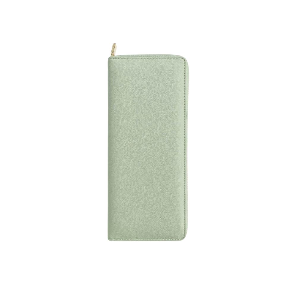 Flip Travel Etui Sage Green & Grey Velvet-4