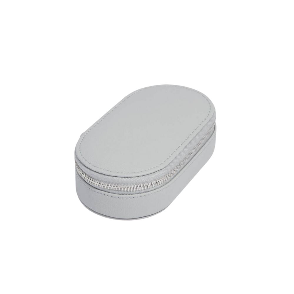 Oval Travel Box Pebble Grey & Grey Velvet-2
