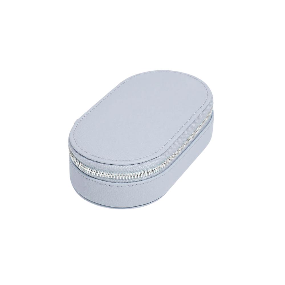 Oval Travel Box Lavender & Grey Velvet-2