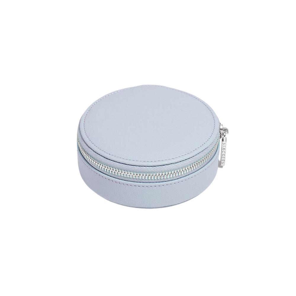 Round Travel Box Lavender & Grey Velvet-2