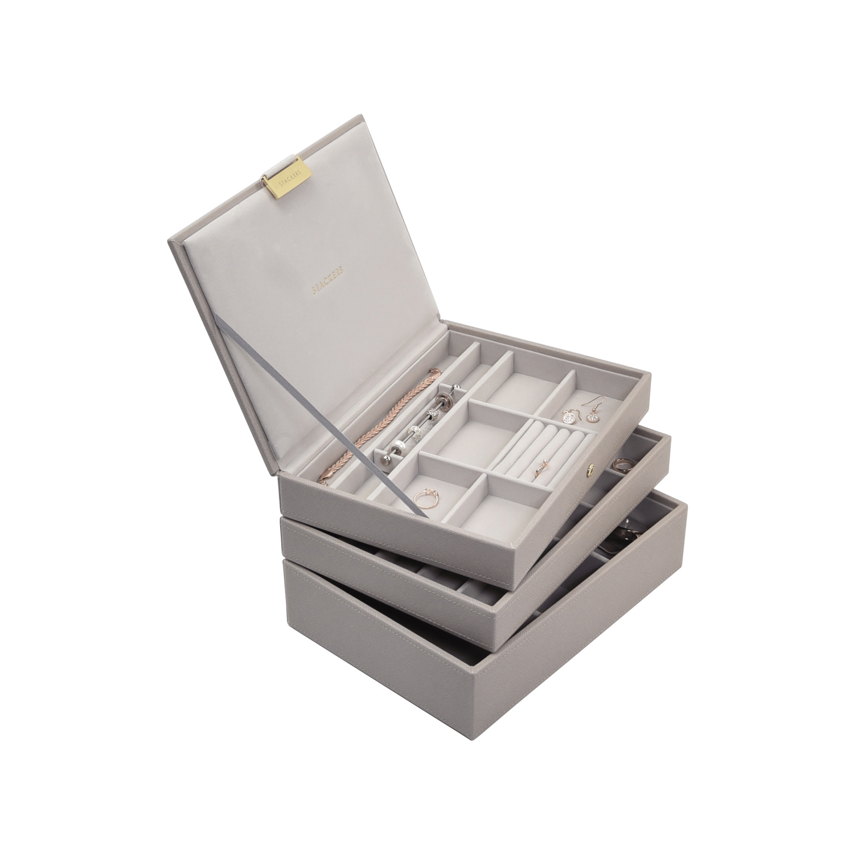 Classic 3-Set Taupe & Grey Velvet-3