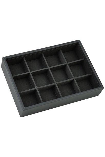Mini Stacker voor Manchetknopen in Charcoal Grey