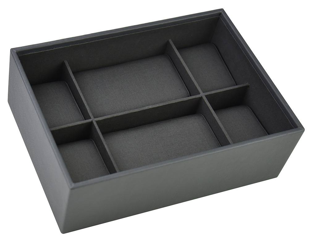 STACKERS Box Classic voor 8 Horloges in Charcoal Grey-1