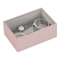 Box Mini 2-Set Stapelbare Juwelendoos in Soft Pink & Grey Spot