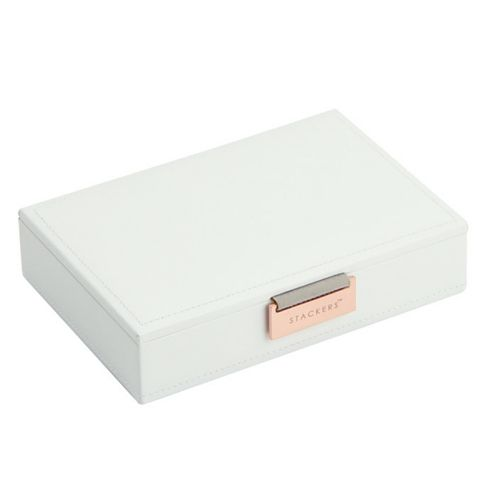 Mini Top Box | White & Stone + Rose Gold-2