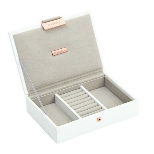 Mini Top Box | White & Stone + Rose Gold-3