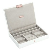 Classic Top Box | White & Stone + Rose Gold