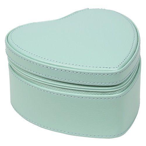 Heart Box in Mint & White-2