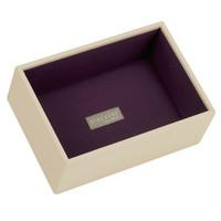 Mini 2-Set Stapelbare Juwelendoos in Cream & Purple