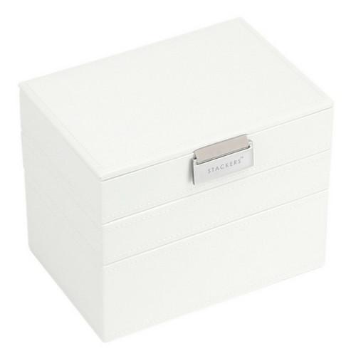 Mini 2-Set Juwelen Sieraden Doos | White & Stone-1