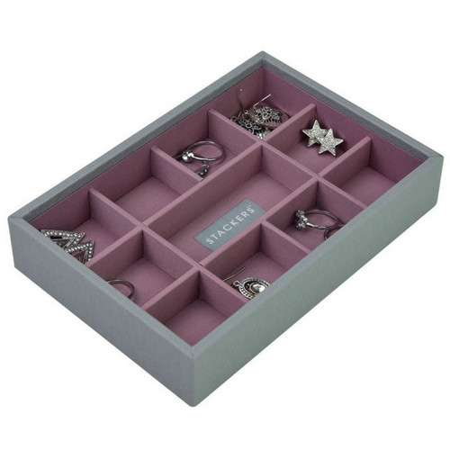 Mini 2-Set Stapelbare Juwelendoos in Dove Grey & Rose-4