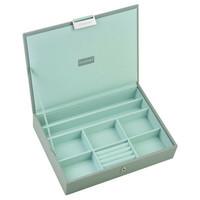 Box Classic 4-Set stapelbare sieradendoos in Dove Grey & Mint