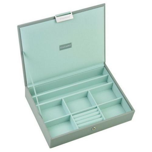 Box Classic 4-Set stapelbare sieradendoos in Dove Grey & Mint-2
