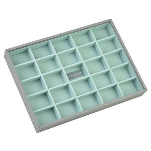 Box Classic 4-Set stapelbare sieradendoos in Dove Grey & Mint-3