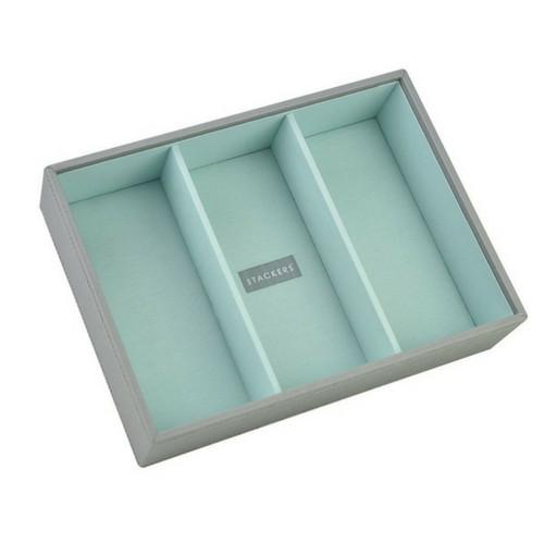 Box Classic 4-Set stapelbare sieradendoos in Dove Grey & Mint-5