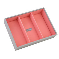 Box Classic 4-Set stapelbare sieradendoos in Dove Grey & Coral