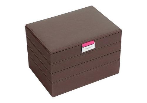 STACKERS Box Classic 4-Set Juwelendoos - Choc