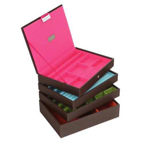 Box Classic 4-Set stapelbare sieradendoos in Choc & Brights-2