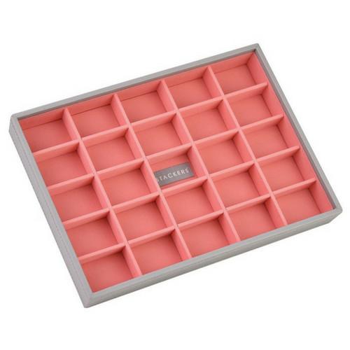Box Classic 5-Set stapelbare sieradendoos in Dove Grey & Coral-5