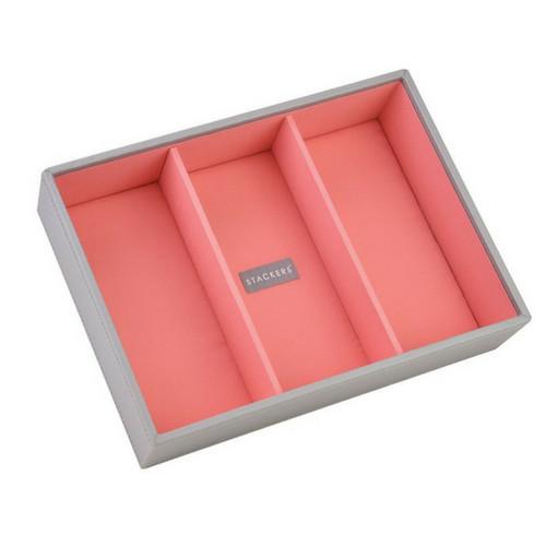 Box Classic 5-Set stapelbare sieradendoos in Dove Grey & Coral-7