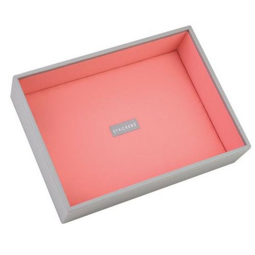 Box Classic 5-Set stapelbare sieradendoos in Dove Grey & Coral-8