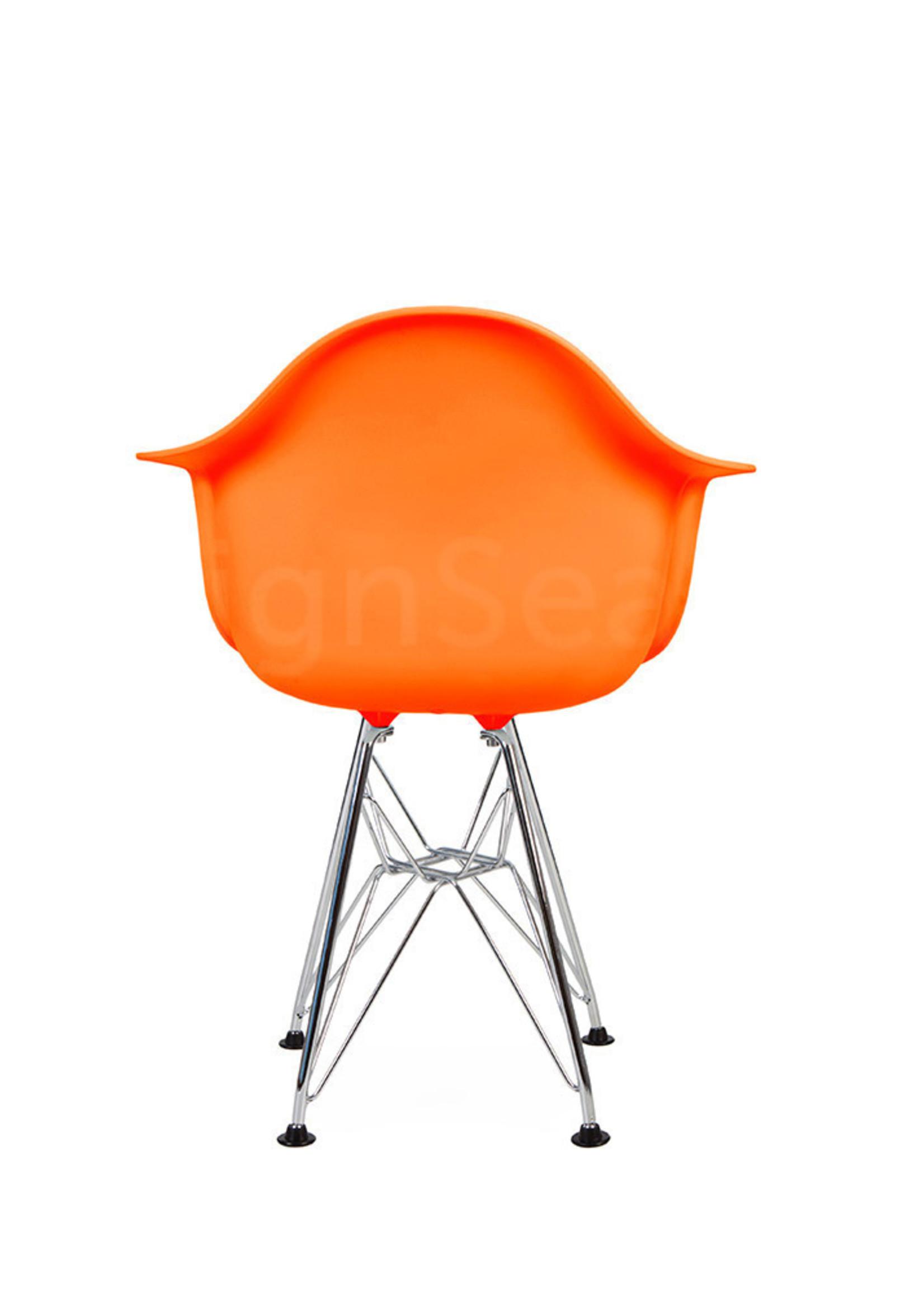 DAR Eames Design Kinderstoel Fel oranje
