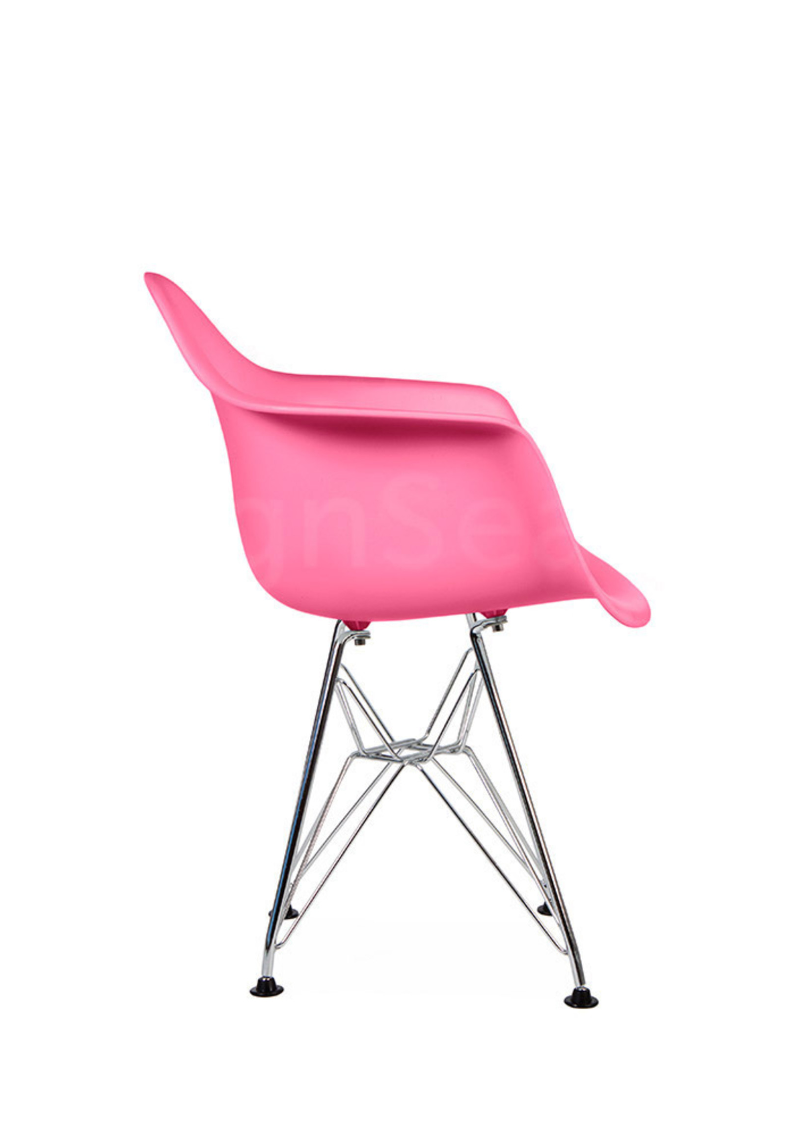DAR Eames Design Kinderstoel Zuurstok roze