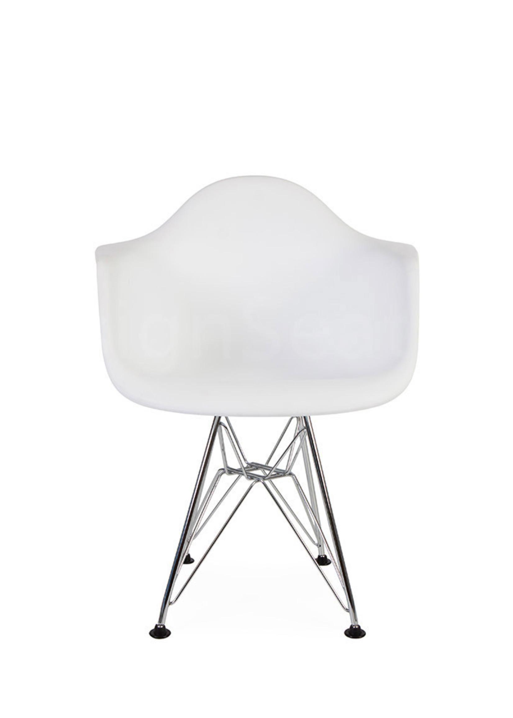 DAR Eames Design Kinderstoel Wit