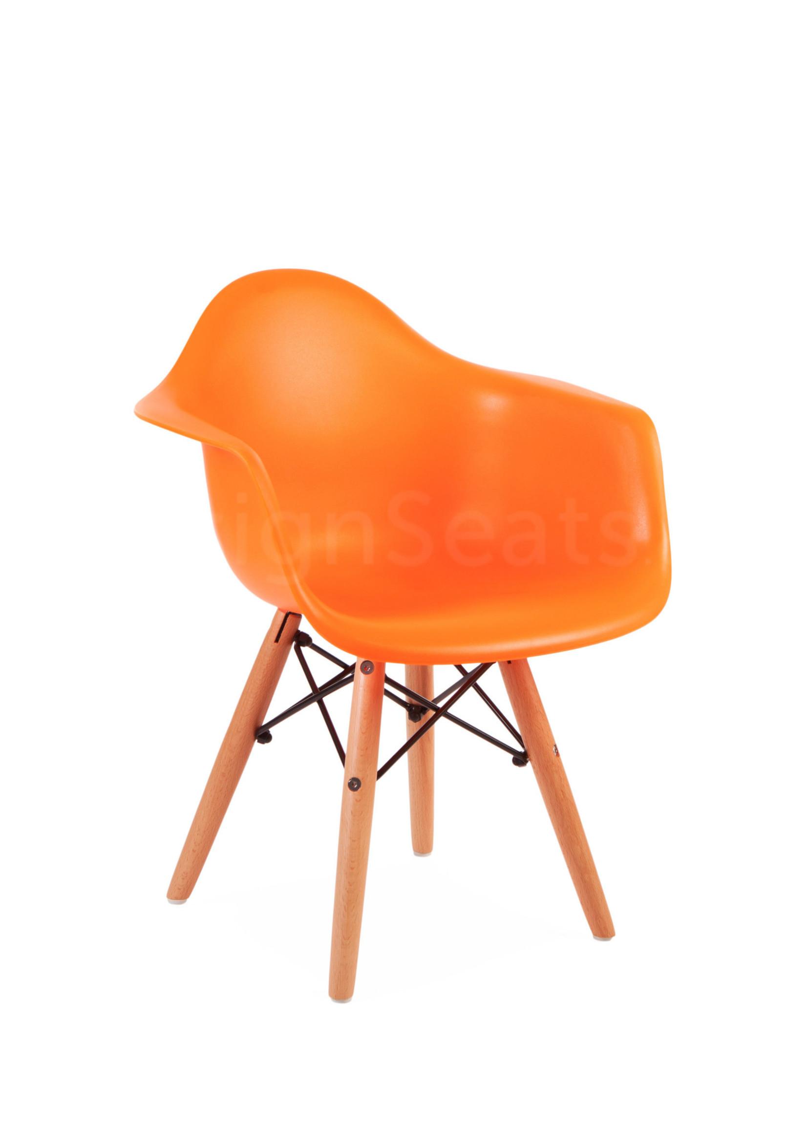 DAW Eames Kinderstoel Bright orange