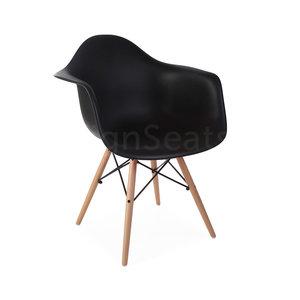 DAW Eames Kinderstoel Zwart