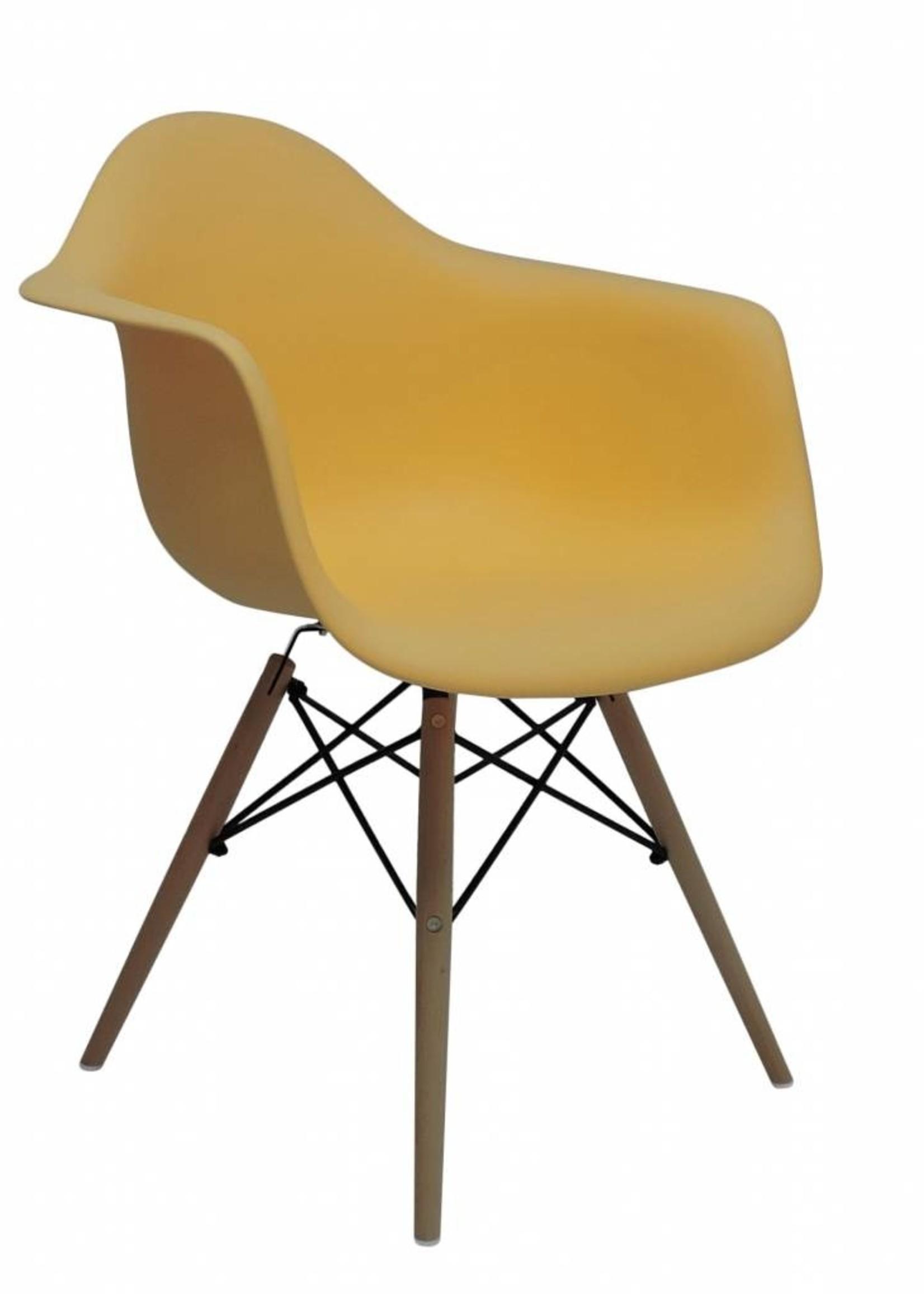 DAW Eames Design Stoel Oranje