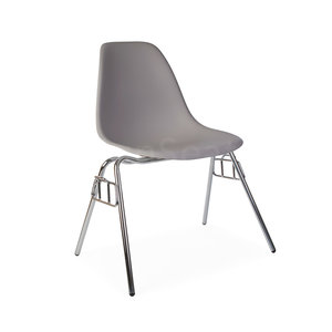DSS Eames Design Stapelstoel Grijs