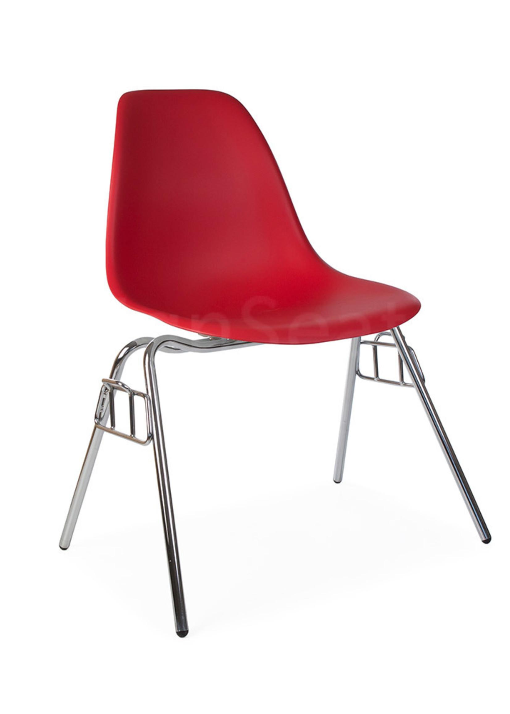 DSS Eames Design Stapelstoel Rood