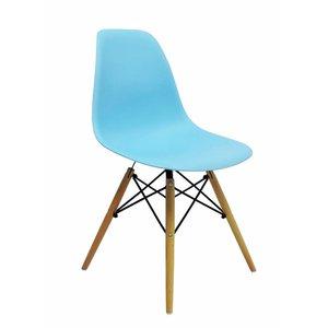 DSW Eames Design Stoel Blauw